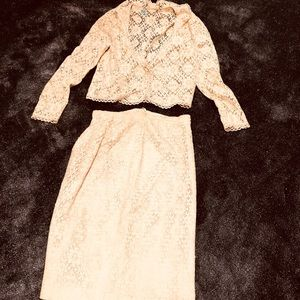 Very early vintage 40s lace skirt and jacket